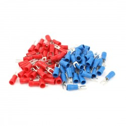 Fork terminal 16-14 AWG Red and Blue