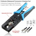 Cable Crimper Tool Coax Compression Crimping Connectors RG59/RG58/RG6 BNC/RCA/F
