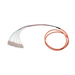 Bouquet de 12 fibres multimode OM2 SC en tire-bouchon – 0,9 mm