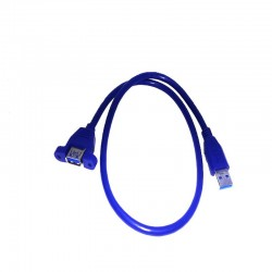0.5M USB 2.0 extension cable with connector for panel mounting USB A male to USB A female