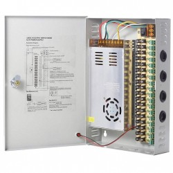 CCTV Power Supply Box 18CH Channels ports  12V 20 Amp 240W for CCTV DVR Security System and Cameras
