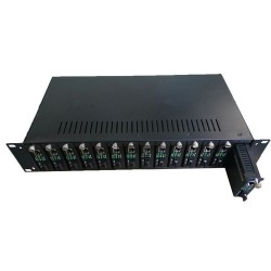 "14 slot fiber ethernet media converter rack mount 19"" rack chassis"